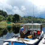 Getting the boat ready for a day on the Loch