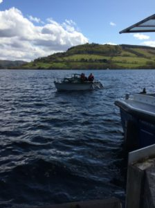 Fishing on the iconic Loch Ness