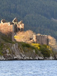 Urquhart Castle as seen from our boat